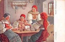Vesele Velikonoce! Traditional Folk Costumes, J. Mukarovsky Signed 1922