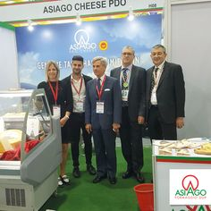 Asiago PDO Cheese at Thaifex - World of Food Asia in Bangkok. Here with the Italian Amabassador Francesco Saverio Nisio. #AsiagoCheese