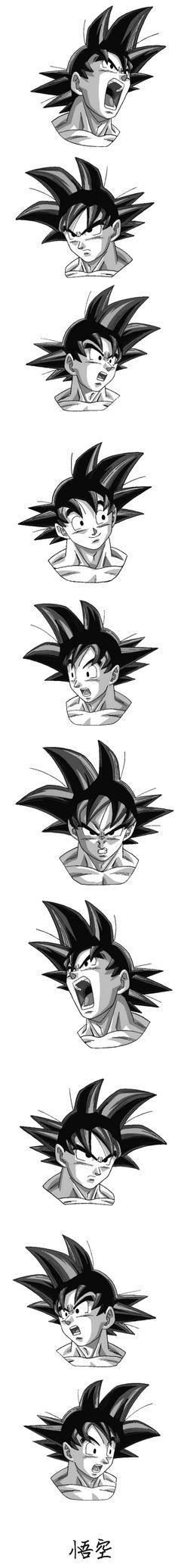 """Como desenhar Goku - Dragon Ball Z.  É possível desenhar o seu Personagem Favorito de Anime quando você quiser, mesmo que você não tenha nascido com o """"dom de desenhar"""". Clique no link e conheça o curso."""