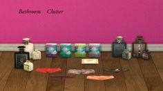 leo-sims: CLUTTER YOUR BATHS Panties Sanitary Pads Wet Tissue Perfumes Credits for yuliya and cassandre for sims 2 meshes DOWNLOAD