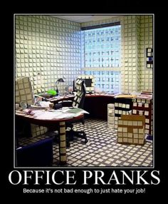 Office Pranks   // funny pictures - funny photos - funny images - funny pics - funny quotes - #lol #humor #funnypictures