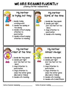 Fluency Partner Assessment #fluency #partnerassessment #danielson