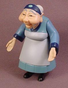Disney Mulan Grandma Fa PVC Figure, 3 1/4 Inches Tall, Arms Waist & Legs Move