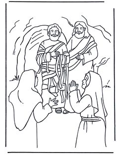 lazarus - Language Arts Coloring Pages