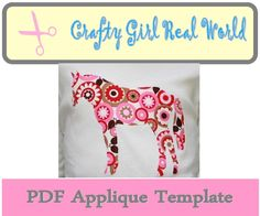 Horse Applique Template PDF.