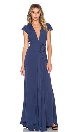 Tularosa wrap floor length dress