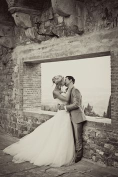Nice black and white with a sepia wash, for a classic look-Beautiful setting!