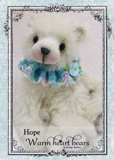 Artist teddy bear Hope from Warm Heart Bears by Carolyn Robbins