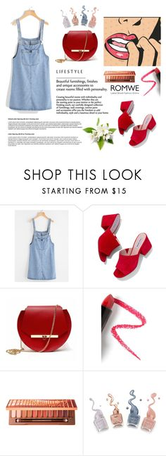 """""""ROMWE"""" by jasna66 ❤ liked on Polyvore featuring Steve Madden, Angela Valentine Handbags, Lapcos and Urban Decay"""