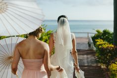 Bride and Bridesmaids. Mana Island