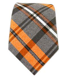 Winter Plaid Oranges Tie with in. Shirt Tie Combo, Groom Ties, Orange Tie, Suit Accessories, Sharp Dressed Man, Skinny Ties, Men's Grooming, Men Dress, Plaid