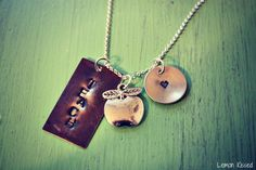 made this hand-stamped necklace for my son's kindergarten teacher for staff appreciation. LOVE her.