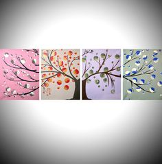 tree of life colorful art landscape cute painting by wrightsonarts