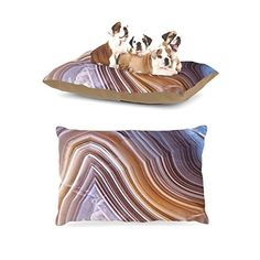 40 x 30 KESS InHouse Nick Nareshni Stones Leading To Ocean Brown Blue Fleece Baby Blanket