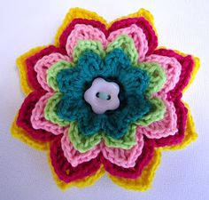 Stitch of Love: Crochet Flower Brooches