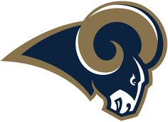 Los Angeles Rams Primary Logo (2016) - Blue ram head with gold horns, carried over with the team after it transferred from St. Louis