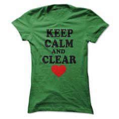 (Top Tshirt Sale) KEEP CALM AND CLEAR YOUR HEART [TShirt 2016] Hoodies, Tee Shirts