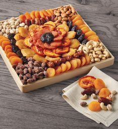 Dried Fruit and Nut Tray | Harry & David Dried Pears, Dried Fruit, Gourmet Food Gifts, Gourmet Recipes, Dry Fruit Tray, Best Fruits For Diabetics, Fruit Sec, Eat Fruit, Fruit Snacks