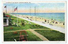 1936 A View of the Beach Virginia Beach Virginia by NinskaPrints