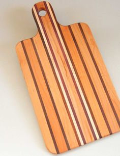 wooden cutting board handle by newberry on Etsy, $24.00