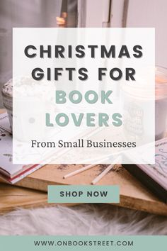 Find beautiful Christmas gifts for book lovers in this literary gift guide. Support a small business by shopping from these amazing Etsy shops and make a book nerd happy at the same time! From bookish candles to printable bookmarks and greeting cards– discover these and many more literary gifts for a bookworm in your life. Book Lovers Gifts, Book Gifts, Unique Christmas Gifts, Beautiful Christmas, Printable Bookmarks, Nook Ideas, Book Sleeve, Gifts For Bookworms, Literary Gifts