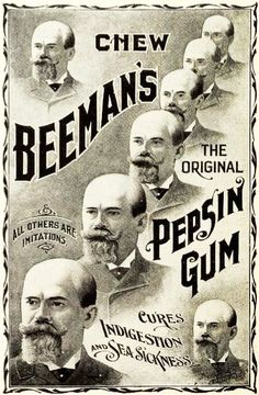 Beemans Pepsin Gum Ad from 1898