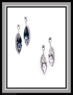 Contemporary yet classic and timeless design - gorgeous Sphinx Eye Navettes by Swarovski,  accented with glittering rows of diamond-like crystals - Made by Bryan Greenwood of Crystal Countess / Jewellery by Greenwood Design