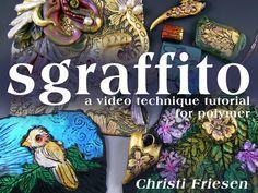 christi friesen new technique tutorial - 30 minute video  #polymer #polymerclay #sgraffito #gold #decorative #diy #tutorial #howto #christifriesen