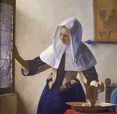 « La Femme à l'aiguière », Johannes Vermeer, 1658, New York, The Metropolitan Museum of Art, New-York.