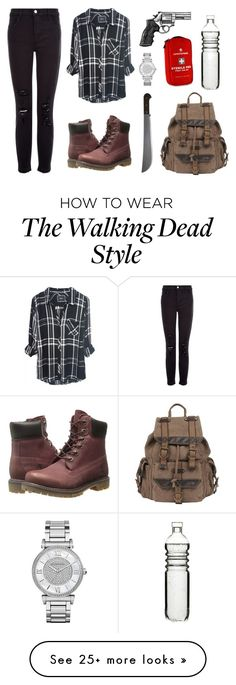 """The Walking Dead.."" by pandys on Polyvore featuring J Brand, Timberland, Wilsons Leather, Michael Kors, Dot & Bo, women's clothing, women, female, woman and misses"