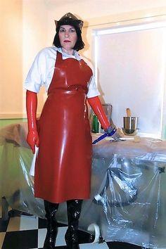 Rubber Gloves, Latex Gloves, Plastic Aprons, Pvc Apron, Shiny Boots, Beautiful Nurse, Latex Costumes, Latex Wear, Transgender Girls