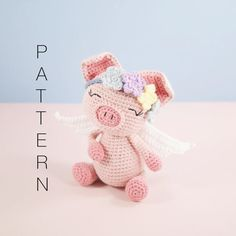 Amigurumi crochet cute pig  Pippa the pig PATTERN ONLY | Etsy