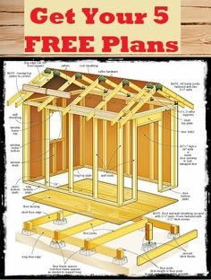 Free shed plans are a great way to save a lot of money building your own small shed. It's a no brainer if you get simple shed plans that are easy to follow.