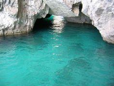 Blue Groto entrance  in Capri