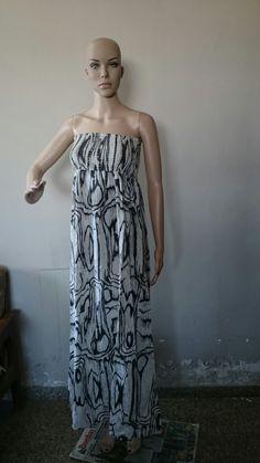 Stylish Strapless Sleeveless Printed Women's Dress Print Dresses (699 INR)  Free Shipping Across World Whatsapp: 8454847845