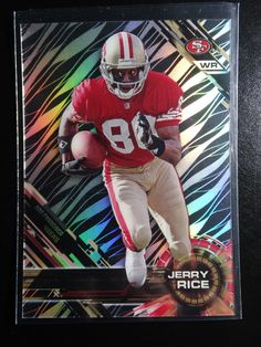 2015 Topps High Tek Grass Pattern #2 Jerry Rice 49ers Niners Football Card #SanFrancisco49ers
