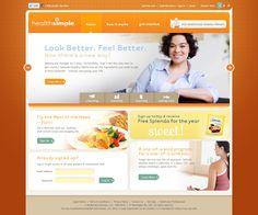 Splenda - HealthSimple website design