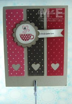 Stampin' Up! Patterned Occasions~Whole Latte Love (Create With M.E.)