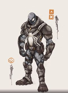 Agent Venom character art created by Clog Two.