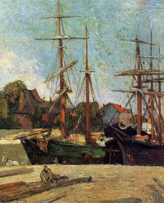 by Paul Gauguin in oil on canvas, done in . Now in a private collection. Find a fine art print of this Paul Gauguin painting. Paul Gauguin, Henri Matisse, Vincent Van Gogh, Charles Gleyre, Pierre Auguste Renoir, Edouard Manet, Impressionist Artists, Camille Pissarro, Oil Painting Reproductions