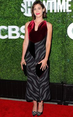 Lizzy Caplan in Roland Mouret attends the CBS, CW and Showtime TCA party. #bestdressed