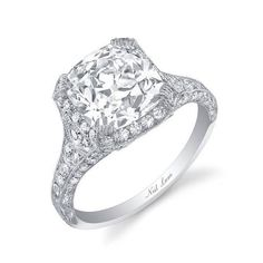 Literally my dream ring- Neil Lane - 3.5 carat cushion-cut diamond engagement ring | Engagement Rings Photos | Brides.com