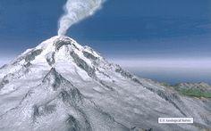 Mount Rainier Composite Volcano   Volcanic Landslides at Mount Rainier volcano, Washington