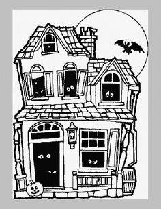 detailed halloween coloring pages - photo#28