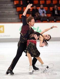 "Madison Chock & Evan Bates skating to ""Dark Eyes"" at Nebelhorn 2015"