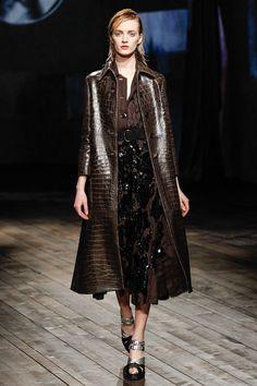 Prada Fall/Winter 2013 Ready-to-Wear Collection via Designer Miuccia Prada; modeled by Daria Strokous