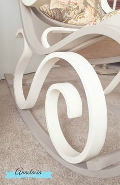 bentwood rocking chair vintage painted curves