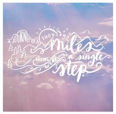 A single step...