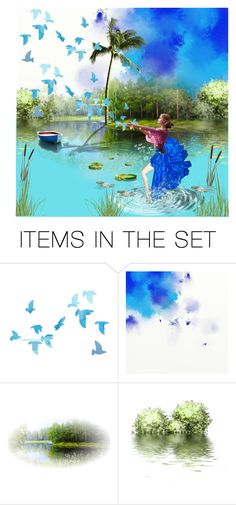 """""""dancing in water"""" by juvenio ❤ liked on Polyvore featuring art"""