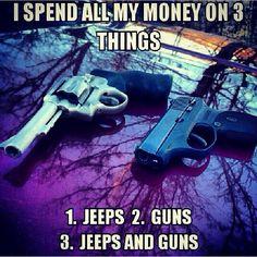 Jeeps && Guns. #truestory
